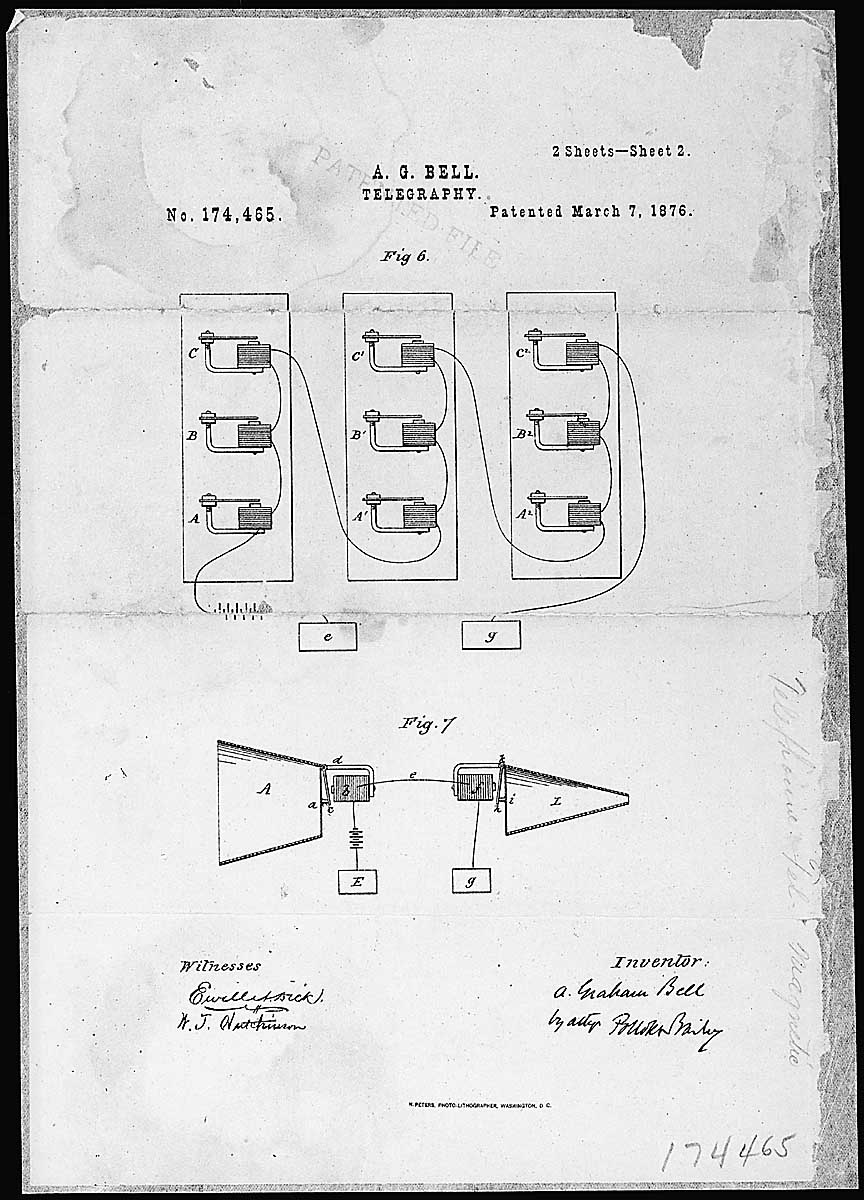 Alexander Graham Bell Telephone Patent